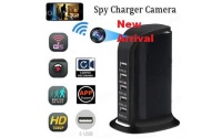 HD WiFi Spy Hidden 1080 P Camera DVR Multi-port USB Charging station